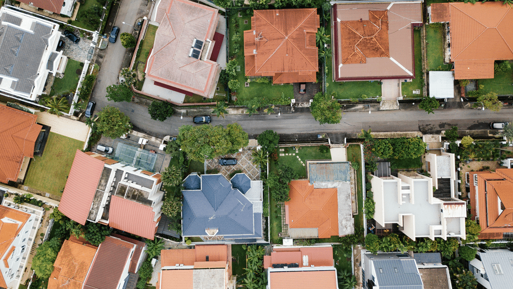 casas vista aérea como aumentar o patrimônio